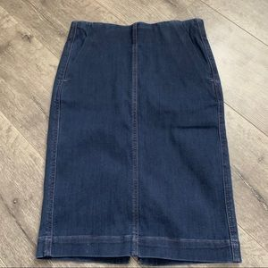 LOFT denim skirt